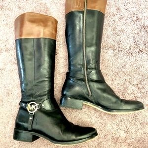 Michael Kors Shoes - Michael Kors High Black/Brown Leather Boots